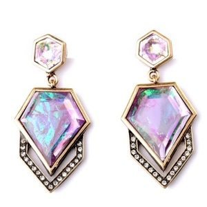 Multicolor Crystal Earrings.